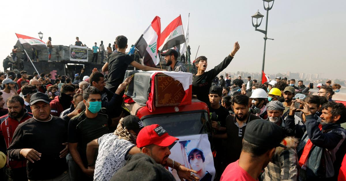 Iraqi protesters attacked the US embassy in Baghdad