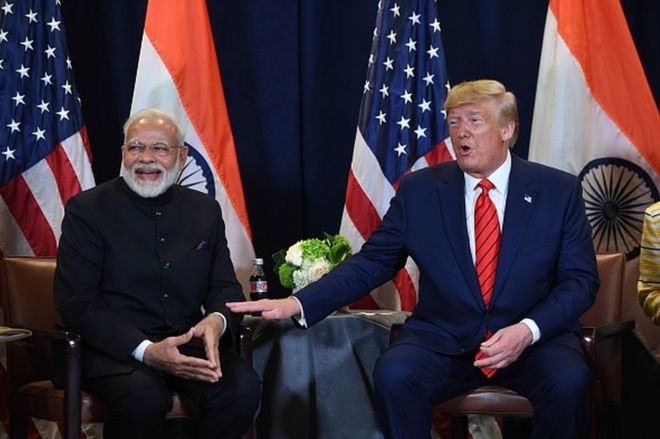 US President Donald Trump will begin his maiden trip to India on Monday